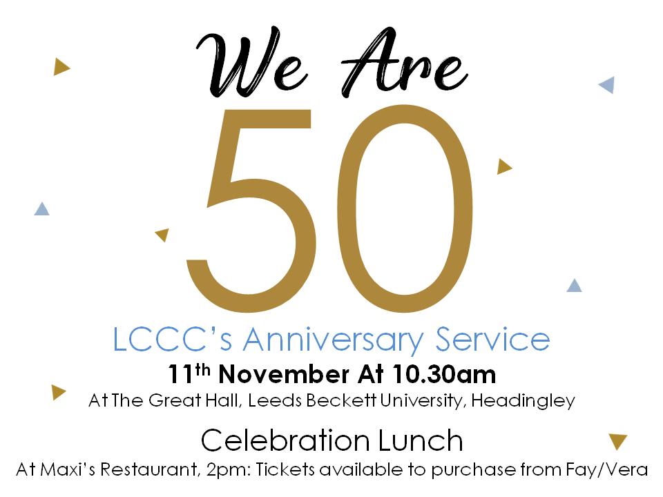 LCCC's Anniversary Service